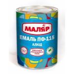 Эмаль ПФ-115 «Маляр» черная 2,8кг